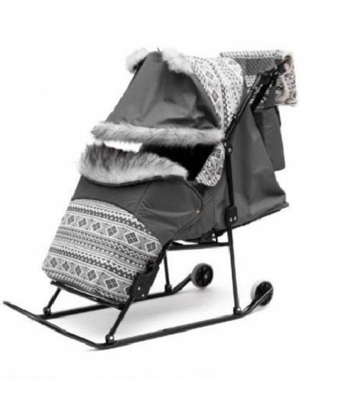 ABC academy Скандинавия 3УВ Экстра Cанки - коляска с утепленным конвертом