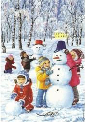 Картина Зимние Забавы, 40*50 см Раскраски по номерам (PB) Q859