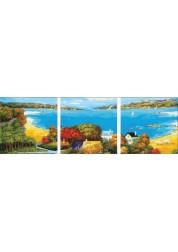 Триптих На берегу Залива, 50*150 см Раскраски по номерам (PB) P073