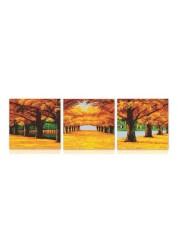 Триптих Осенняя Аллея, 50*150 см Раскраски по номерам (PB) P038