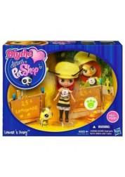 Игровой набор Littlest Pet Shop Куколка и зверюшка c пчелкой 19452/31212