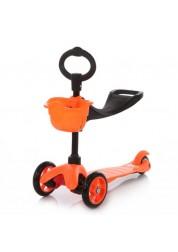 Mini 3 в 1 оранжевый самокат трехколесный 21st Scooter ZMI3-O