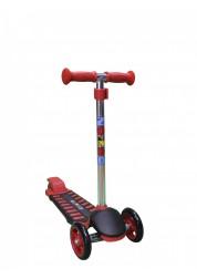 Самокат детский трехколесный с регулируемым рулем Mini Luxе XL красный Zondo ZMILXL-R