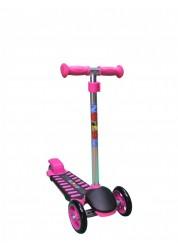 Самокат детский трехколесный с регулируемым рулем Mini Luxе XL розовый Zondo ZMILXL-P