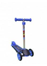 Самокат детский трехколесный с регулируемым рулем Mini Luxе XL синий Zondo ZMILXL-B