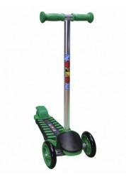 Самокат детский трехколесный с широким задним колесом Mini Luxе зеленый Zondo ZMIL-G