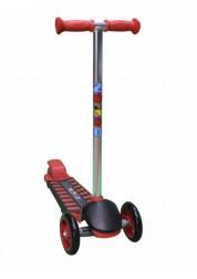 Самокат детский трехколесный с широким задним колесом Mini Luxе красный Zondo ZMIL-R