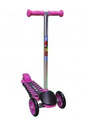 Самокат детский трехколесный с широким задним колесом Mini Luxе розовый Zondo ZMIL-P