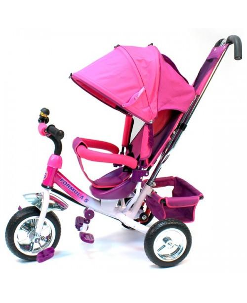 """Велосипед 3-х колесный Formula-5 (10""""/8"""") PVC, F300-P, розовый"""