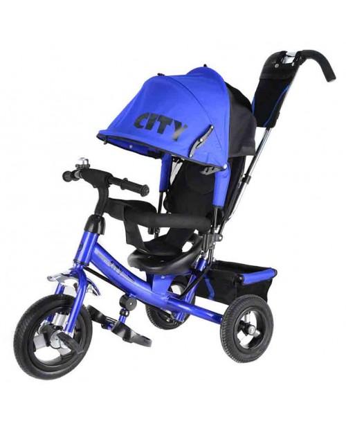 """Велосипед 3-х колесный City (10""""/8""""), синий Trike JW7B"""