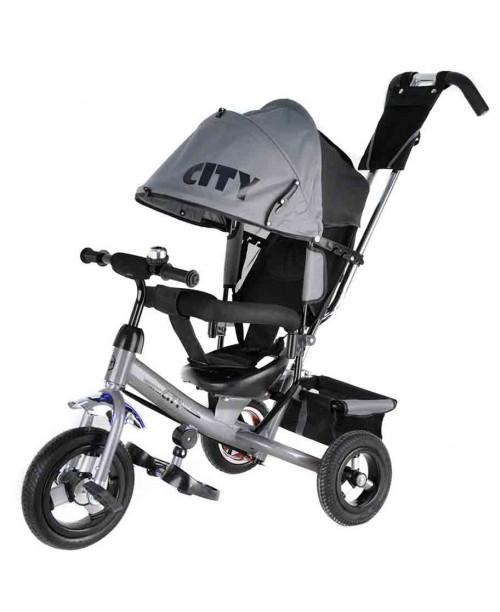 "Велосипед 3-х колесный City (10""/8""), серый Trike JW7M"