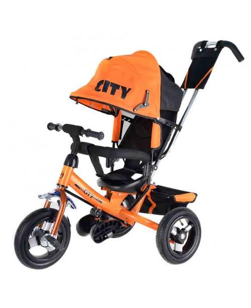"Велосипед 3-х колесный City (10""/8""), оранжевый Trike JW7O"