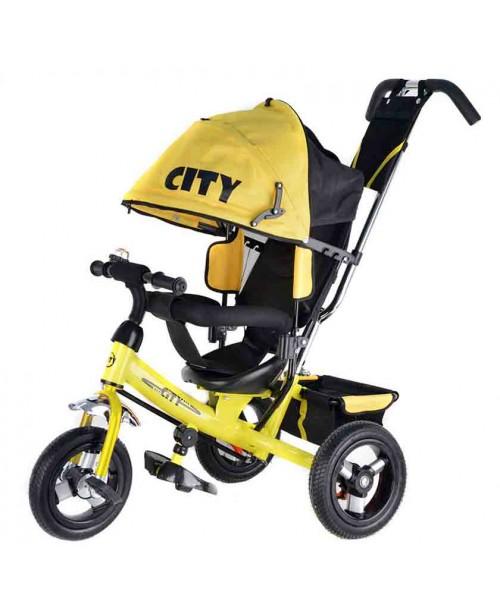 "Велосипед 3-х колесный City (10""/8""), желтый Trike JW7Y"