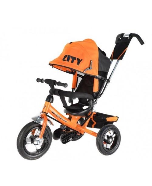 "Велосипед 3-х колесный City New (12""/10""), оранжевый Trike JW7OB"