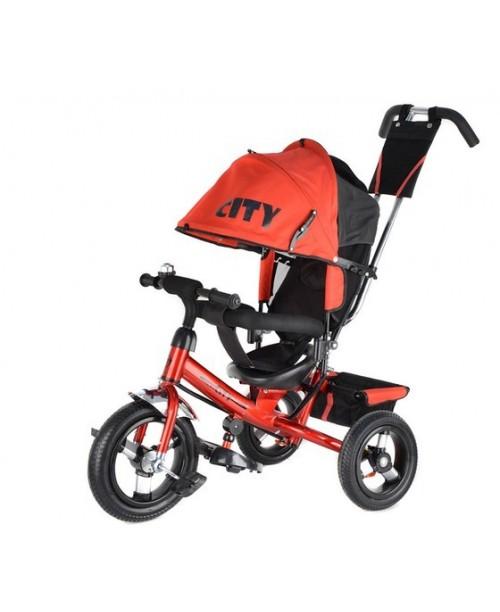 """Велосипед 3-х колесный City New (12""""/10""""), красный Trike JW7RB"""