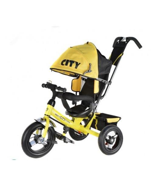 "Велосипед 3-х колесный City New (12""/10""), желтый Trike JW7YB"