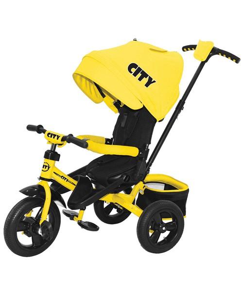 "Велосипед 3-х колесный City NEW 2016 (12""/10""), желтый Trike JC5SY"