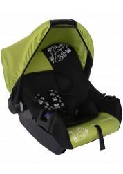 """Детское зеленое автомобильное кресло Люкс, """"Слоник"""", груп.0+, 0-13 кг Baby Care BC-322LUX"""