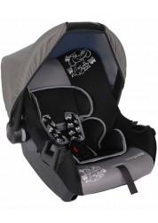 """Детское серое автомобильное кресло Люкс, """"Слоник"""", груп.0+, 0-13 кг Baby Care BC-322LUX"""