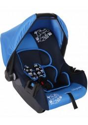 """Детское синее автомобильное кресло Люкс, """"Слоник"""", груп.0+, 0-13 кг Baby Care BC-322LUX"""