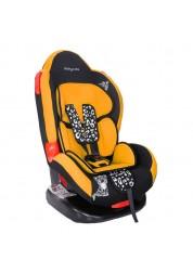"""Детское оранжевое автомобильное кресло Люкс, """"Леопардик"""" Baby Care BC-02LUX"""