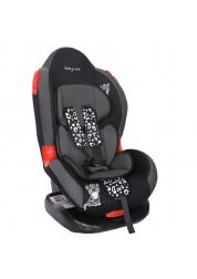 """Детское серое (карбоновое) автомобильное кресло Люкс, """"Леопардик"""" Baby Care BC-02LUX"""
