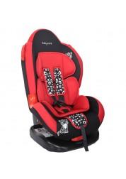 """Детское красное автомобильное кресло Люкс, """"Леопардик"""" Baby Care BC-02LUX"""