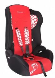 """Детское красное автомобильное кресло Люкс,""""Жирафик"""" Baby Care BC-513LUX"""