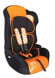 """Детское оранжевое автомобильное кресло Люкс,""""Жирафик"""" Baby Care BC-513LUX"""