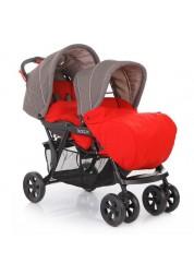 Коляска для двойни Tandem (Red) Baby Care BC002
