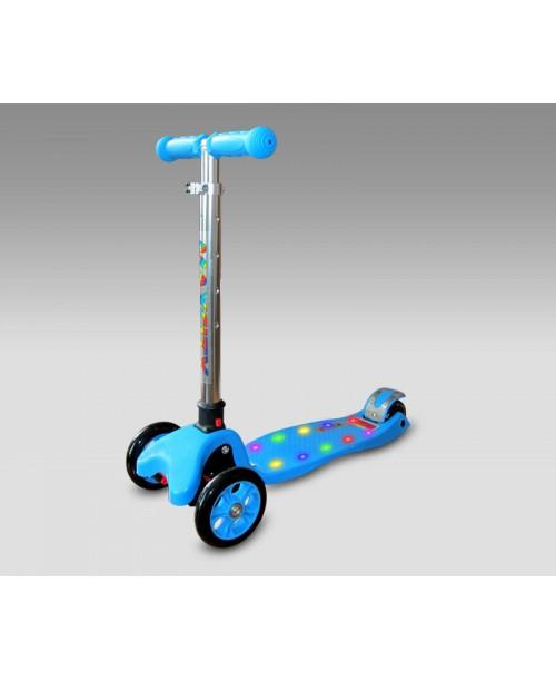 Самокат Flex с светодиодной подсветкой, синий MaxCity MC Flex-B