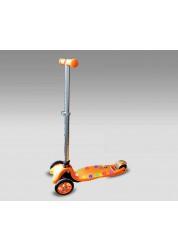Самокат Flex с светодиодной подсветкой, оранжевый MaxCity MC Flex-О