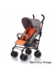Jetem, Коляска трость Holiday, (Orange/Grey)