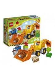 Конструктор из серии Дупло – Экскаватор-погрузчик Lego, 10811