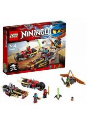 Конструктор из серии Нинзяго - Погоня на мотоциклах Lego, 70600
