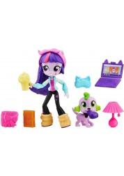 Игровой набор с мини-куклой Твайлайт Спаркл из серии My Little Pony Equestria Girls, 12 см., шарнирная Hasbro B4909