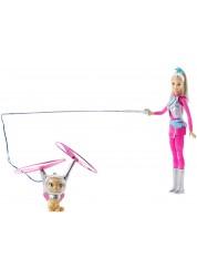 """Игровой набор """"Звездные приключения"""" - Барби с летающим котом Попкорн Mattel DWD24"""