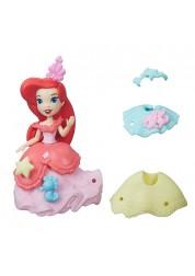 Маленькая кукла Princess Disney Принцесса Ариэль с модными аксессуарами Hasbro B5327