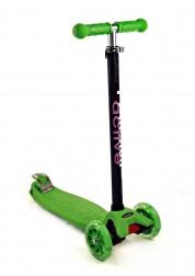 Cамокат детский Triumf Active Maxi Flash SKL-07L  со светящимися колесами, green