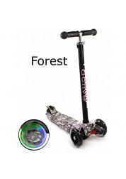 Triumf Active Самокат Maxi Flash Print SKL-07LP со светящимися колесами, forest