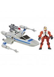 """Игровой набор """"Звездные Войны"""" - Истребитель X-wing и пилот Сопротивления Hasbro B3701H"""