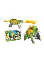 Трансформер Dinobots Стегозавр 2 в 1 робот-бластер, зеленый SB375
