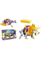 Трансформер Dinobots Трицератопс 2 в 1 робот-бластер, фиолетовый SB376