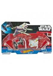 Игровой набор Hot Wheels 2 звездных корабля Star Wars Tie Fighter vs Ghost Mattel CGW90