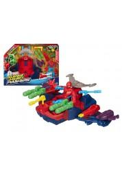 Мстители Летательный игоровой набор Смаш-Джет Человека-паука Super Hero Mashers Avengers Hasbro A8497H