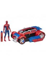 Игровой набор Человек-паук - Транспортное средство с фигуркой, 15 см Hasbro B9703