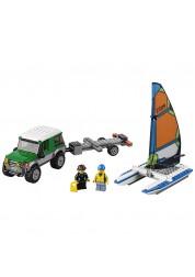 Lego City. Внедорожник с прицепом для катамарана, LEGO, 60149