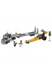 Lego City. Грузовик для перевозки драгстера, LEGO, 60151
