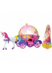 Барби Радужная карета и кукла Barbie DPY38