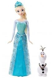 Кукла Disney Princess - Эльза, в наборе с Олафом, Mattel CMM87